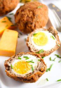scotch eggs recipe 7 209x300 Classic Scotch Eggs Recipe – Fried, with Sausage and Herbs