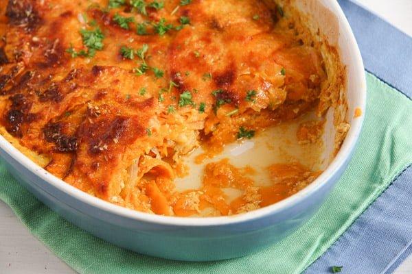 sweet potato stew 4 Easy Sweet Potato Gratin with Parmesan