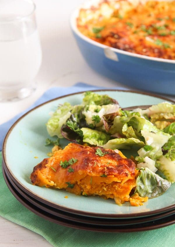 Easy Sweet Potato Gratin with Parmesan