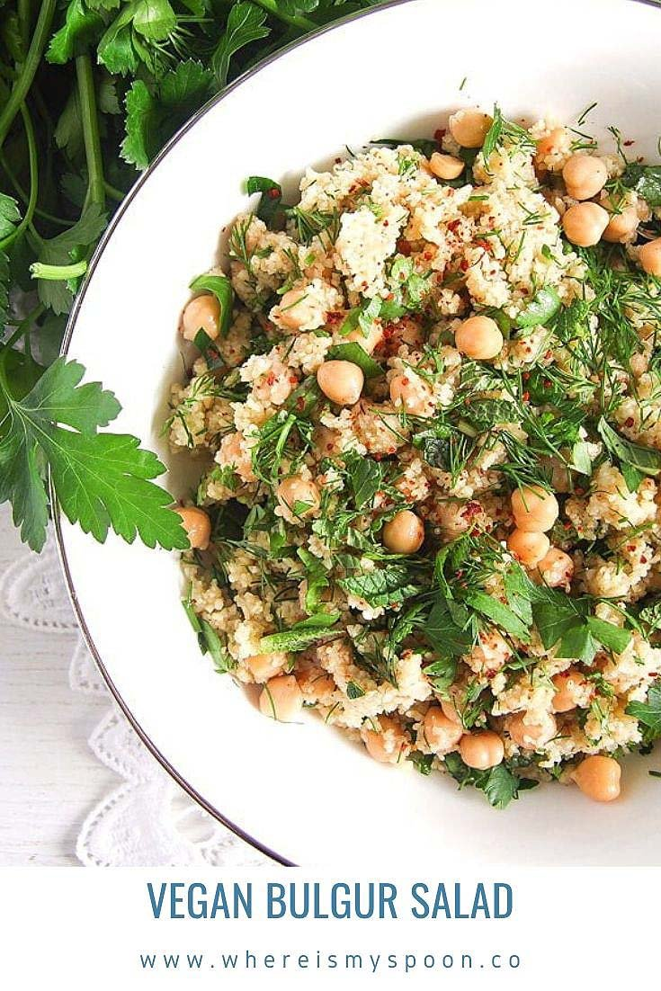 vegan bulgur salad Vegan Bulgur Salad with Chickpeas
