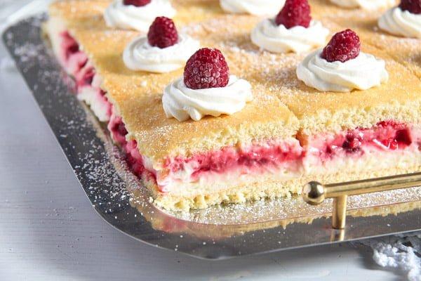 Lemon Raspberry Cake With Lemon Curd Whipped Cream