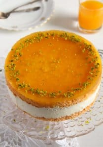 passion fruit cream cake 1 209x300 Passion Fruit or Maracuya Juice Cheesecake with Quark and Cream