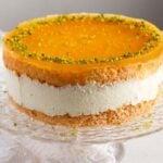 cheesecake with maracuya glaze