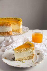 passion fruit cream cake 5 200x300 Passion Fruit or Maracuya Juice Cheesecake with Quark and Cream