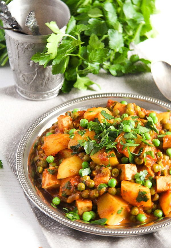 potato pea curry 1 Vegan Potato Curry with Tofu