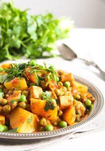 potato pea curry 5 210x300 Vegan Potato Curry Recipe with Tofu, Tomatoes and Peas
