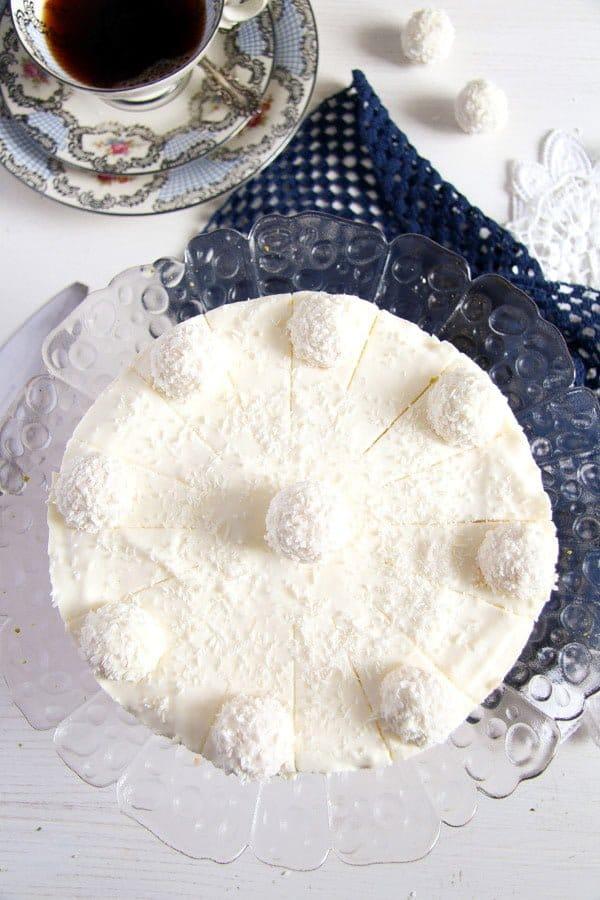 cake with raffaello