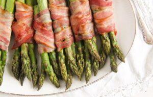 bacon wrapped asparagus 11 300x190 Bacon Wrapped Asparagus   Oven Baked Asparagus Recipe