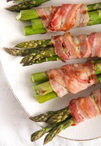 bacon wrapped asparagus 13 207x300 Bacon Wrapped Asparagus   Oven Baked Asparagus Recipe