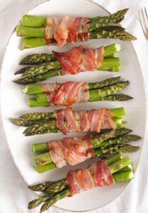 bacon wrapped asparagus 14 209x300 Bacon Wrapped Asparagus   Oven Baked Asparagus Recipe
