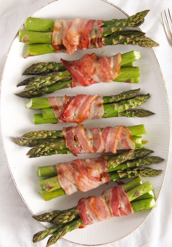 bacon wrapped asparagus 14 Bacon Wrapped Asparagus   Oven Baked Asparagus Recipe