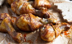 chicken drumsticks 4 300x184 Baked Chicken Drumsticks – Basic Chicken Recipe