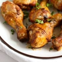 poultry legs with curry marinade