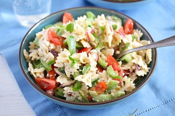 Greek feta pasta salad recipe