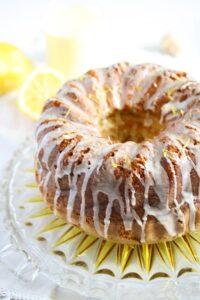 limoncello cake 1 200x300 Limoncello Cake with Lemon Glaze – Bundt Cake Recipe