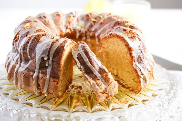 limoncello cake 3 Limoncello Cake with Lemon Glaze – Bundt Cake Recipe