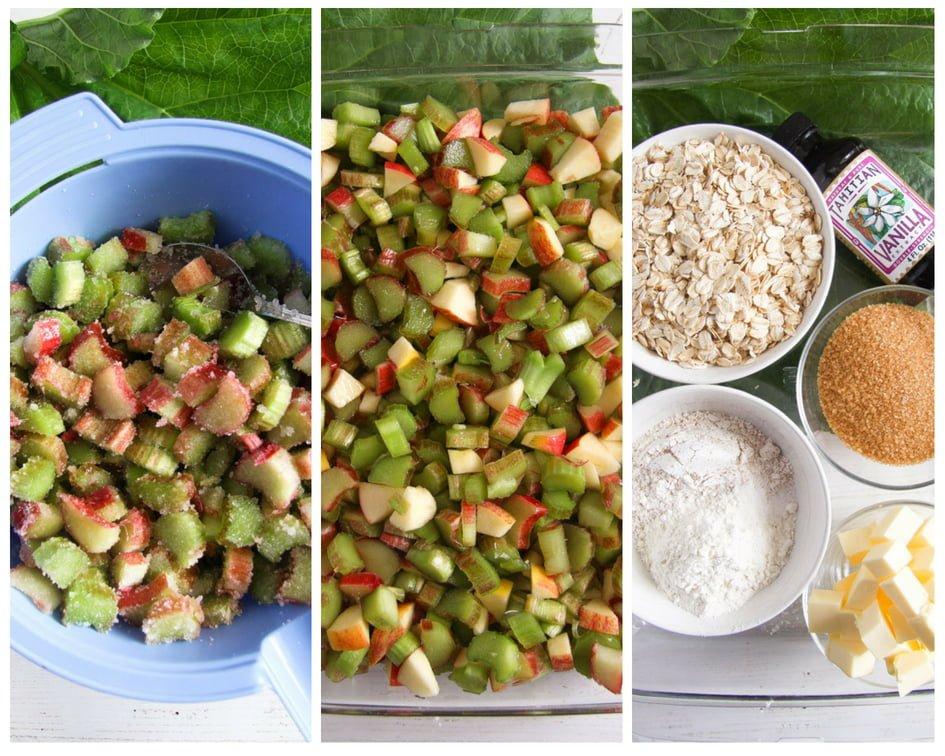 rhubarb crisp 10 Rhubarb Crisp with Apples and Crunchy Oatmeal Topping