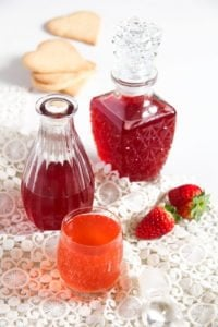strawberry syrup 2 200x300 How to Make a Simple Strawberry Syrup   with Ginger
