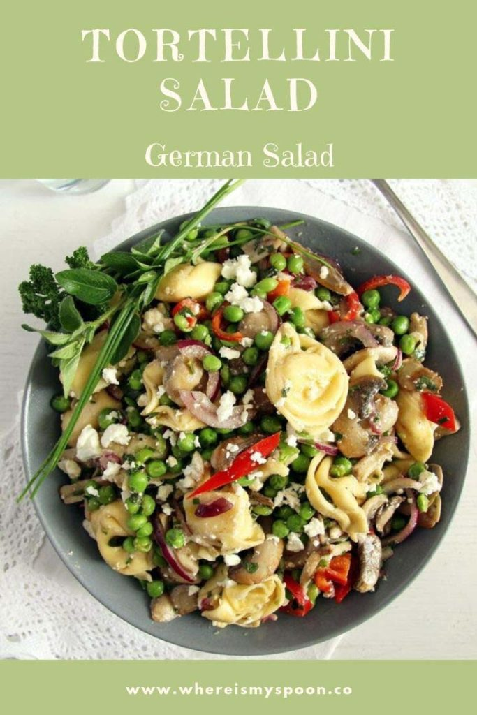 german salad with tortellini