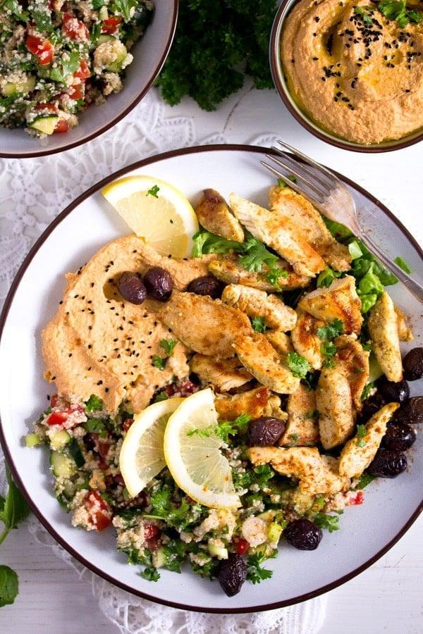 chicken shawarma 2 Chicken Shawarma Plate