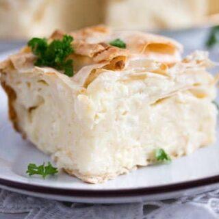slice of gibanica pie