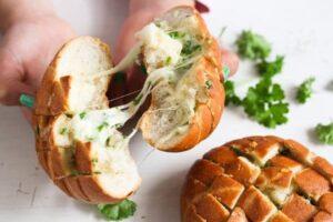 mozzarella rolls 13 300x200 Mozzarella and Garlic Pull Apart Bread Rolls