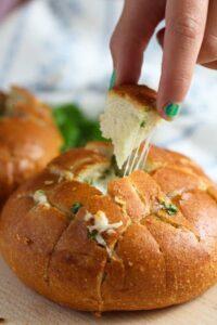 mozzarella rolls 14 200x300 Mozzarella and Garlic Pull Apart Bread Rolls