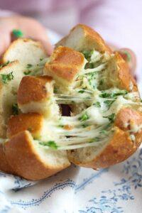 mozzarella rolls 16 200x300 Mozzarella and Garlic Pull Apart Bread Rolls