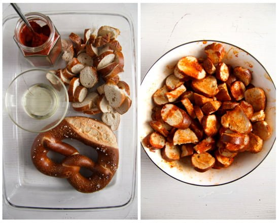 how to make pretzel chips with soft pretzels