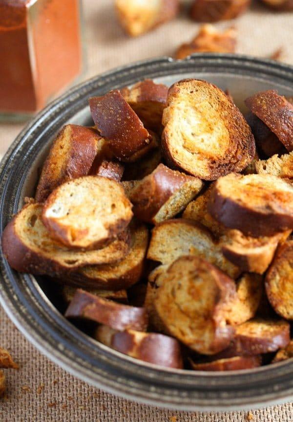 leftover soft pretzel make chips
