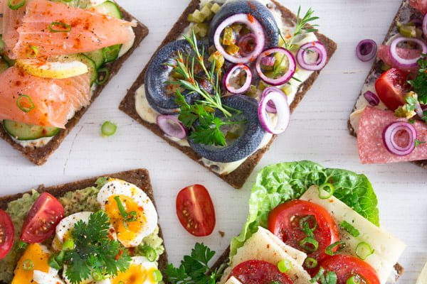 different ideas for Smørrebrød