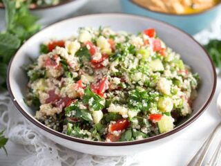 tabouli salad in a small bowl