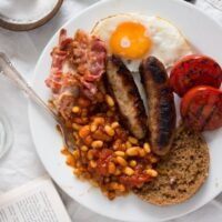 english breakfast 4 200x200 How to Make Full English Breakfast with Baked Beans