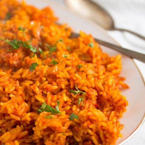 african rice with tomatoes and scotch bonnet