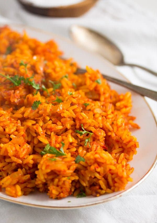 jollof rice 2 Spicy Jollof Rice with Tomatoes – Nigerian Food