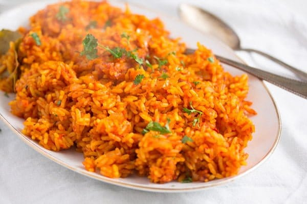 Spicy Jollof Rice with Tomatoes – Nigerian Food
