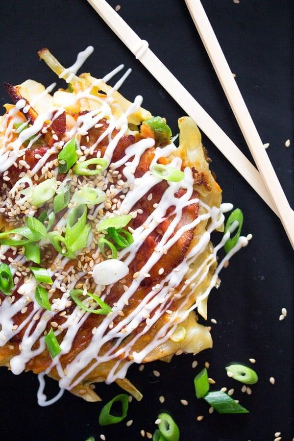 okonomiyaki 2 Okonomiyaki – Japanese Cabbage Pancakes – Japanese Food