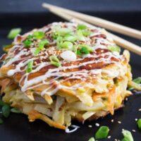 okonomiyaki 5 200x200 Okonomiyaki – Japanese Cabbage Pancakes