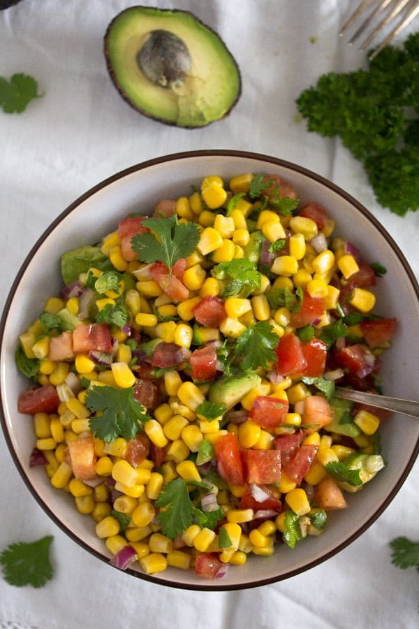 mexican avocado corn salad