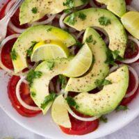 avocado tomato salad 4 200x200 Tomato and Avocado Salad – Panamanian Food
