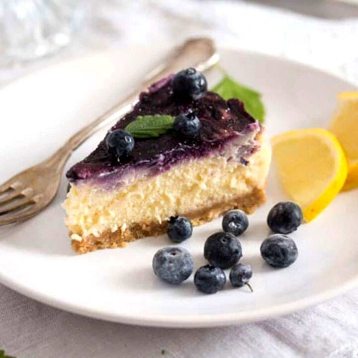 baked blueberry cheesecake with condensed milk