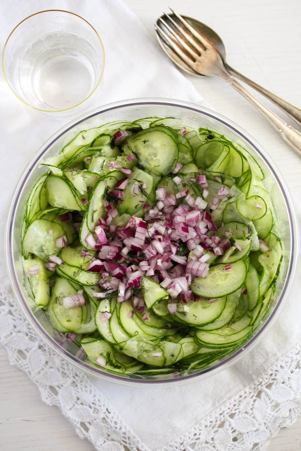 cucumber salad 1 Cucumber Salad with Dill