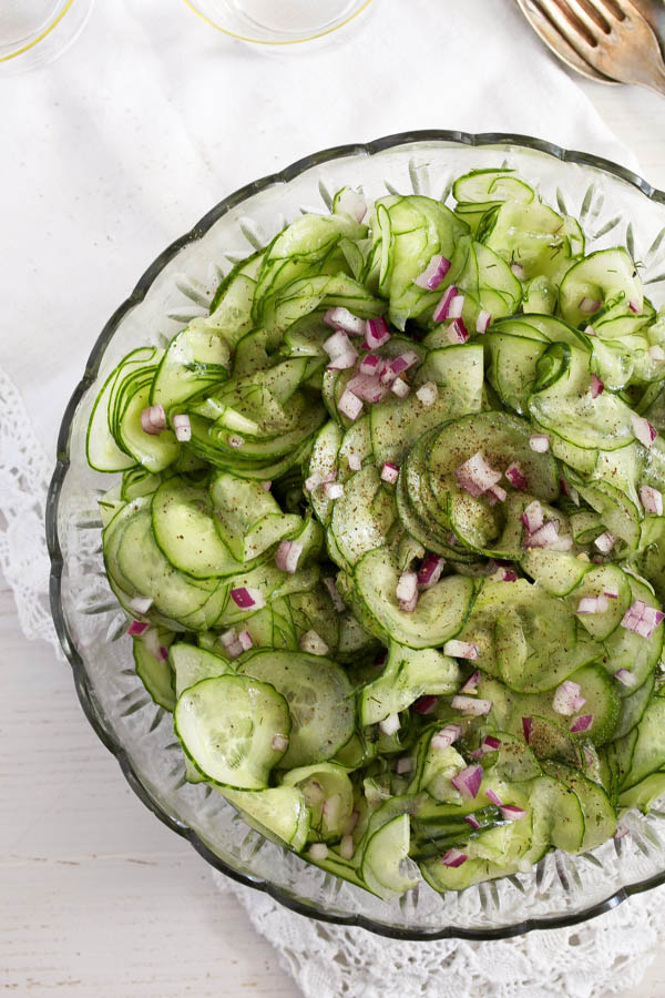 cucumber salad 2 Cucumber Salad with Dill