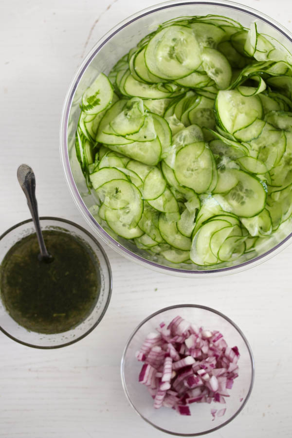 cucumber salad 4 Cucumber Salad with Dill