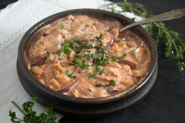 Iranian eggplant dip