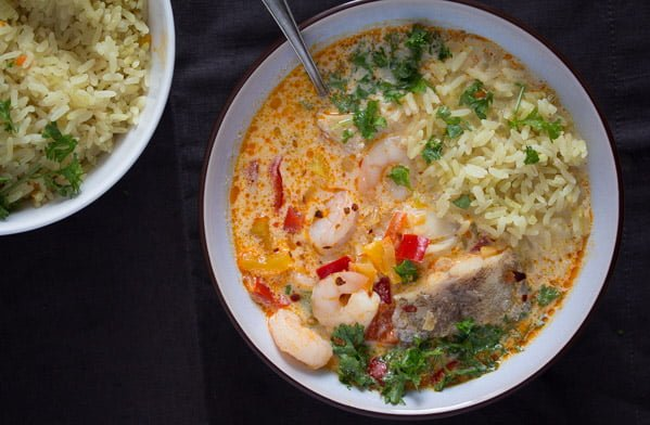 Brazilian shrimp stew moqueca