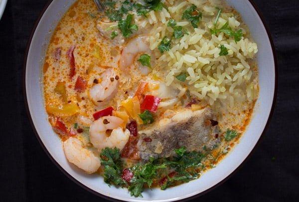 moqueca fish stew 8 Moqueca de peixe   Brazilian Fish Stew Recipe with Coconut