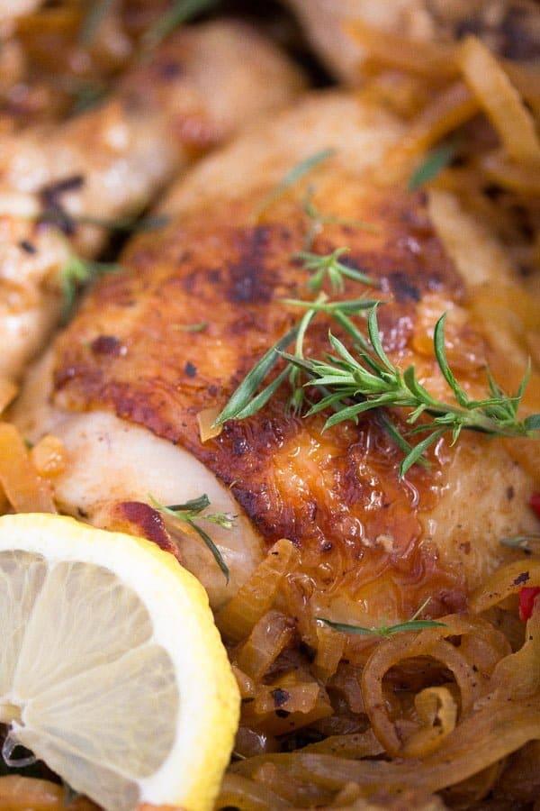 yassa chicken with onions poulet yassa