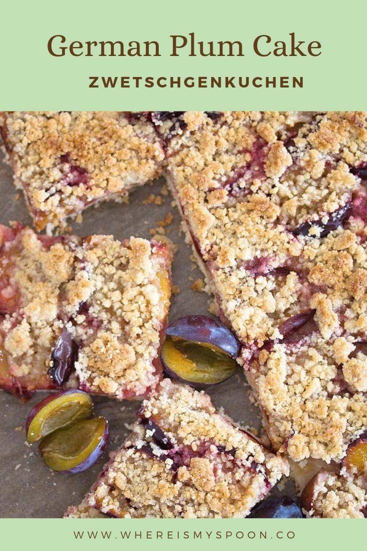 German plum cake zwetschgenkuchen2 735x1102 German Plum Cake with Streusel – Zwetschgenkuchen Recipe