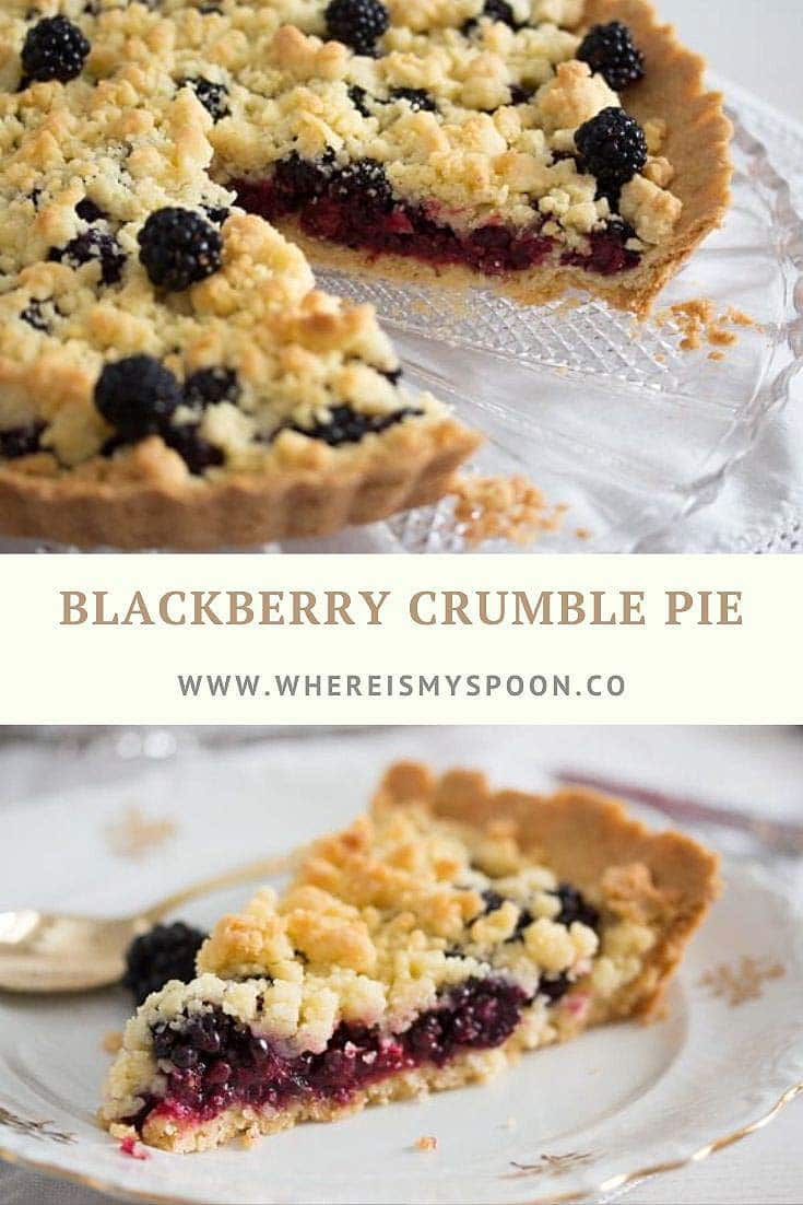 blackberry crumble pie Berry Crumble Pie   with Blackberries